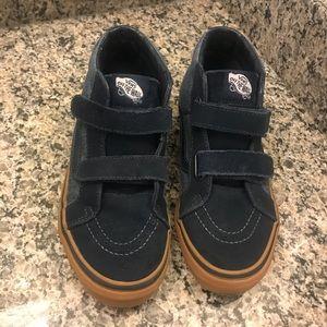 e6471085a4 Vans Shoes - Vans boys size 4.Velcro hi tops navy